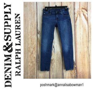 💙Denim&Supply Ralph Lauren DSS Morgan Crop Skinny